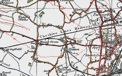 Old map of Ball o' Ditton in 1923