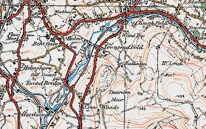 Old map of Balladen in 1924