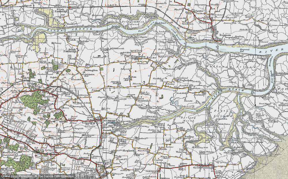 Old Map of Ballards Gore, 1921 in 1921