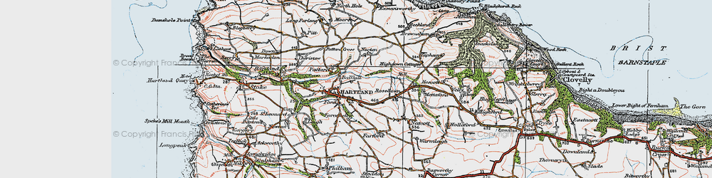 Old map of Ballhill in 1919