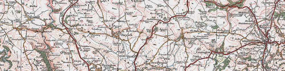 Old map of White Meadow in 1923