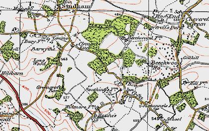Old map of Ballingdon Bottom in 1920