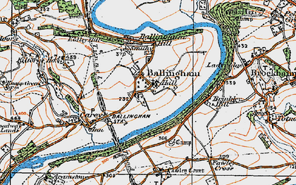 Old map of Ballingham in 1919