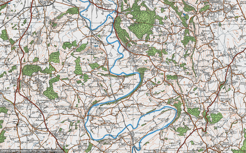 Old Map of Ballingham Hill, 1919 in 1919