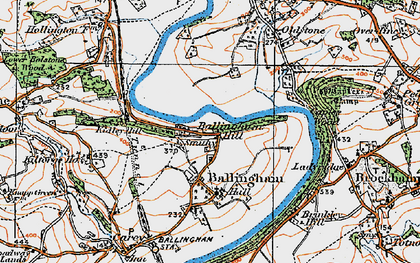 Old map of Ballingham Hill in 1919