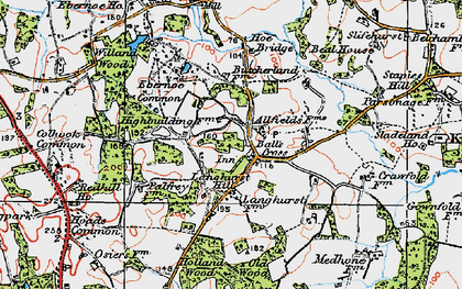 Old map of Balls Cross in 1920