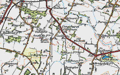 Old map of Balls Green in 1920