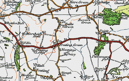 Old map of Balls Green in 1921