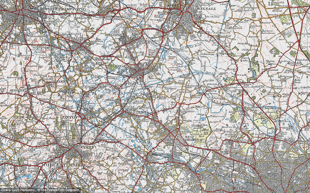 Old Map of Balls Hill, 1921 in 1921