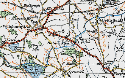 Old map of Balmer Heath in 1921