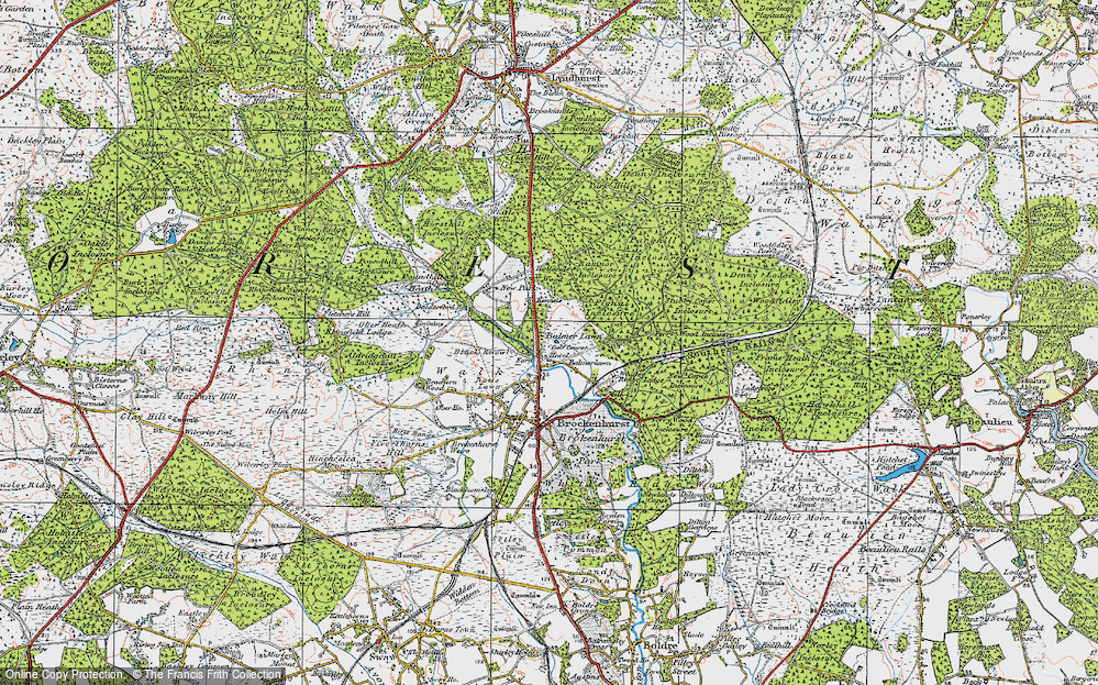 Old Map of Balmerlawn, 1919 in 1919