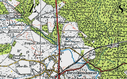 Old map of Balmer Lawn in 1919