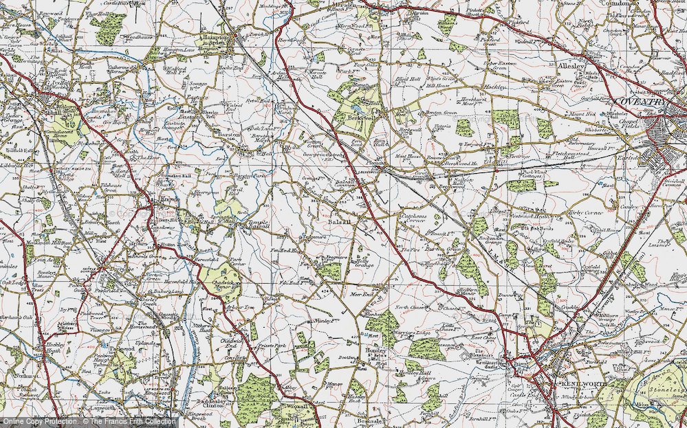 Old Map of Balsall, 1921 in 1921
