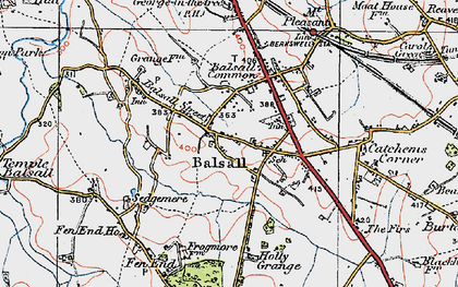 Old map of Balsall in 1921