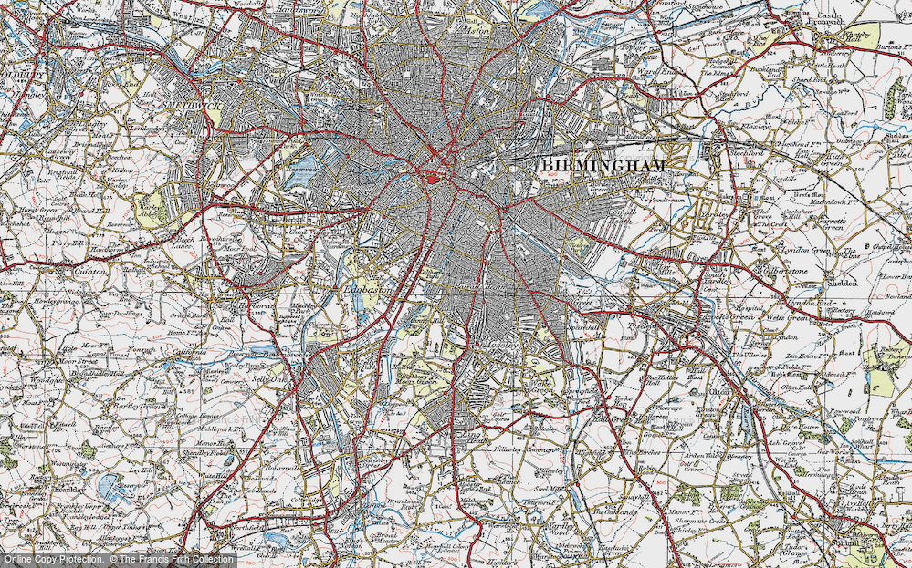 Old Map of Balsall Heath, 1921 in 1921