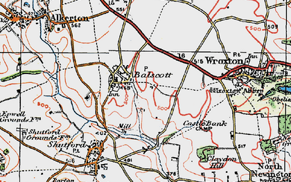 Old map of Balscote in 1919