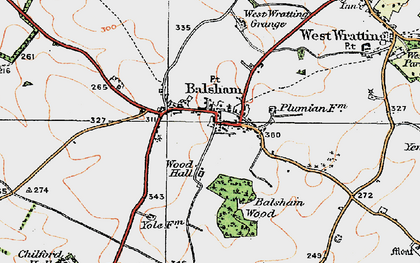 Old map of Balsham in 1920