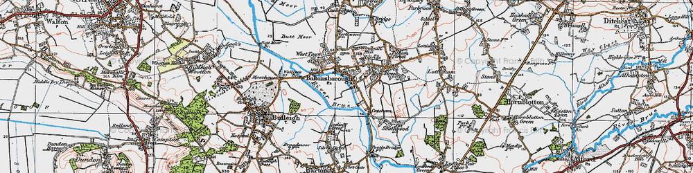 Old map of Baltonsborough in 1919