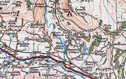 Old map of Bamford in 1923