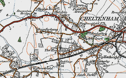 Old map of Bamfurlong in 1919