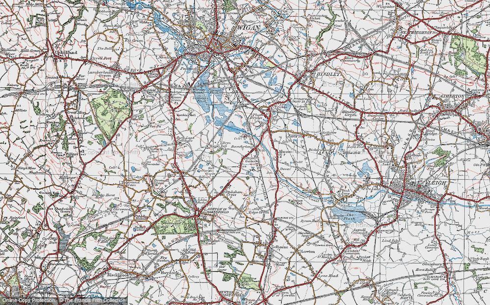 Old Map of Bamfurlong, 1924 in 1924