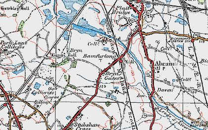 Old map of Bamfurlong in 1924