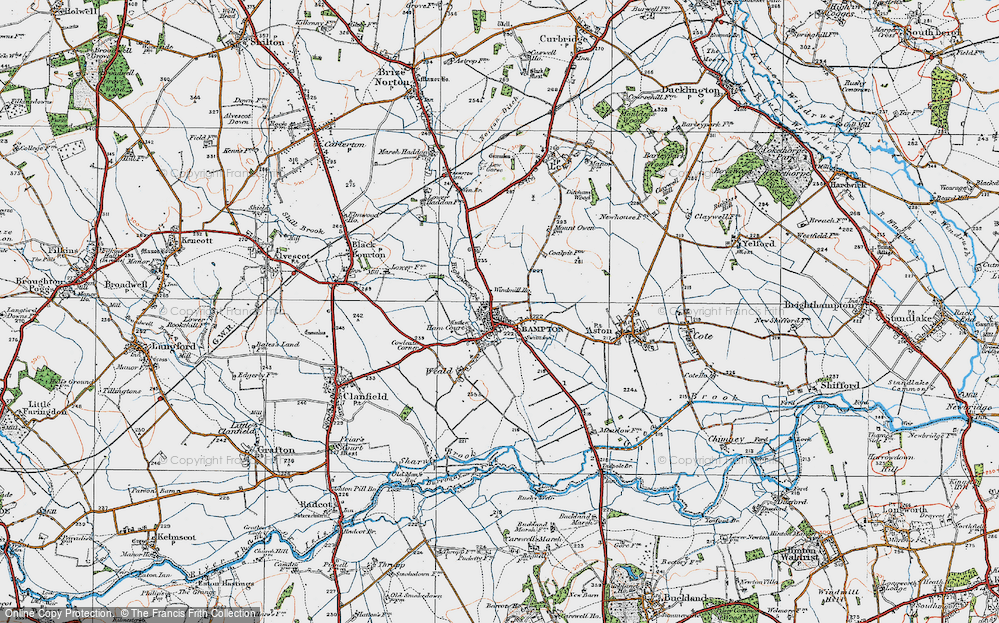 Old Map of Bampton, 1919 in 1919