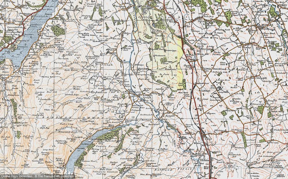 Old Map of Bampton Grange, 1925 in 1925