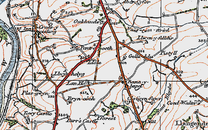 Old map of Bancycapel in 1923
