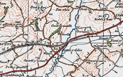Old map of Bancyfelin in 1923