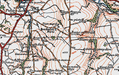 Old map of Bancyfford in 1923