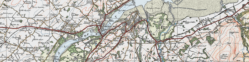 Old map of Bangor in 1922