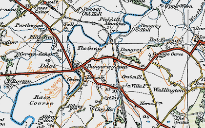 Old map of Bangor on Dee in 1921