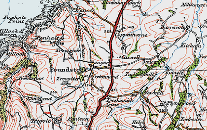 Old map of Bangors in 1919