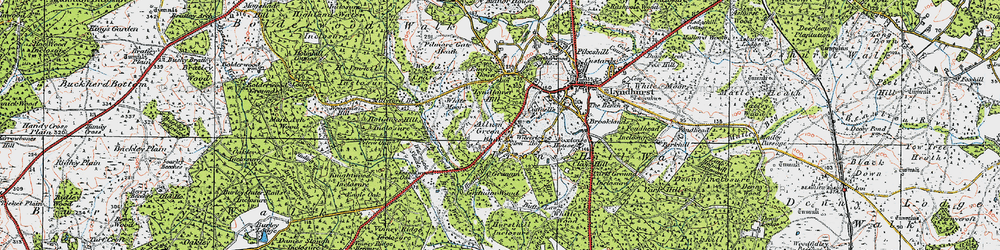 Old map of Allum Green in 1919