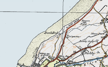 Old map of Bank End in 1925