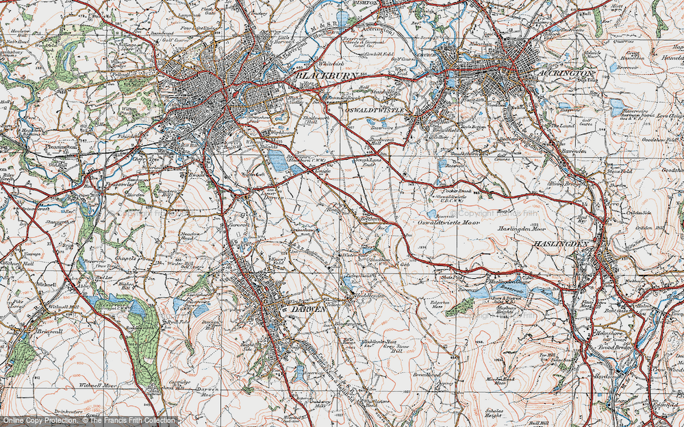 Old Map of Bank Fold, 1924 in 1924
