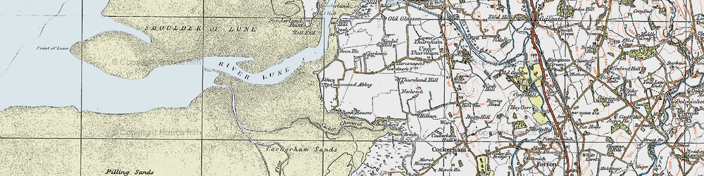 Old map of Thursland Hill in 1924