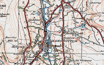 Old map of Bank Lane in 1924