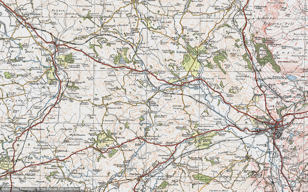 Old Map of Bank Newton, 1925 in 1925