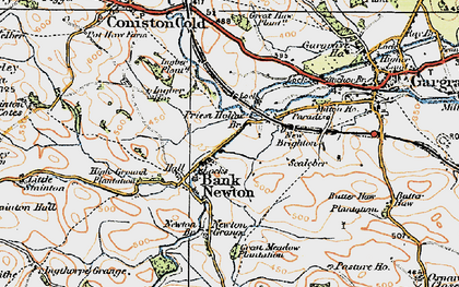 Old map of Bank Newton in 1925