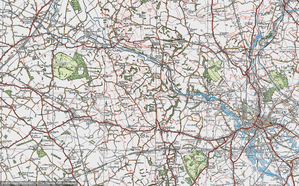 Old Map of Historic Map covering Ashurst's Beacon in 1924