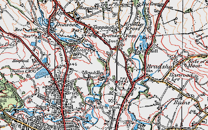 Old map of Bank Top in 1924