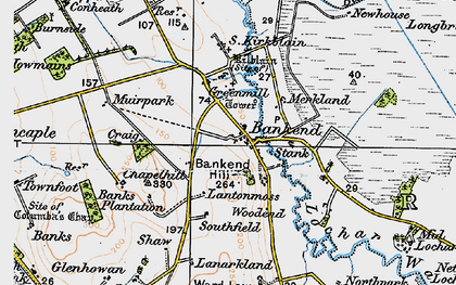 Old map of Bankend in 1925