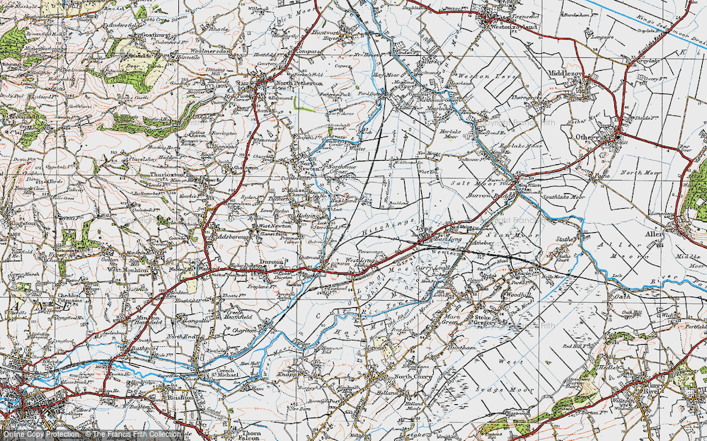 Old Map of Bankland, 1919 in 1919