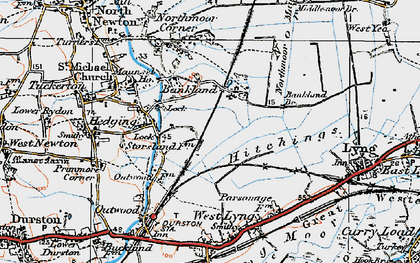 Old map of Bankland in 1919