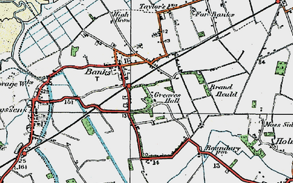 Old map of Banks in 1924