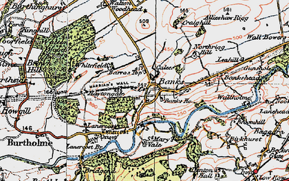 Old map of Allensteads in 1925