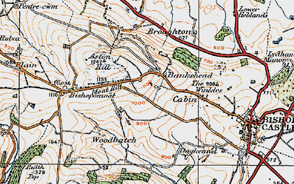 Old map of Bankshead in 1920
