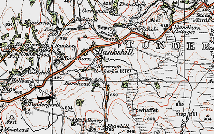 Old map of Whitstonehill in 1925